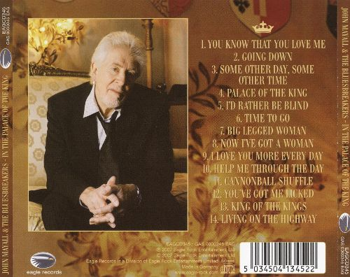 """John Mayall and the Bluesbreakers """"In the Palace of the King"""" 2007"""